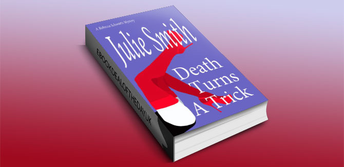 a mystery kindle book Death Turns A Trick by Julie Smith