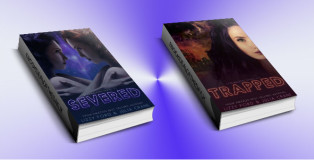 """scifi dystopian romance ebook """"Starwalkers Serial Novel #1 & #2"""" by Lizzy Ford & Julia Crane"""