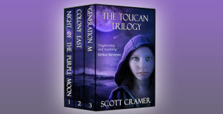 "a ya scifi dystopian ebook ""The Toucan Trilogy (Three dystopian novels: Night of the Purple Moon, Colony East, and Generation M) by Scott Cramer"