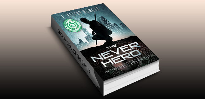 ya scifi adventure ebook The Never Hero (Chronicles of Jonathan Tibbs Book 1) by T. Ellery Hodges