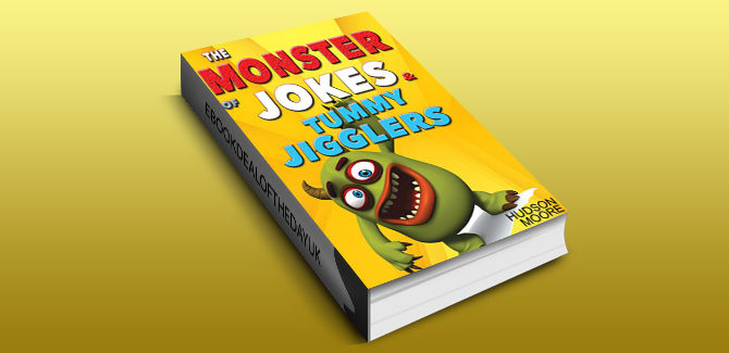 a Kids Books : The MONSTER book of > FUNNY JOKES & Kids BRAIN Games - by Hudson Moore