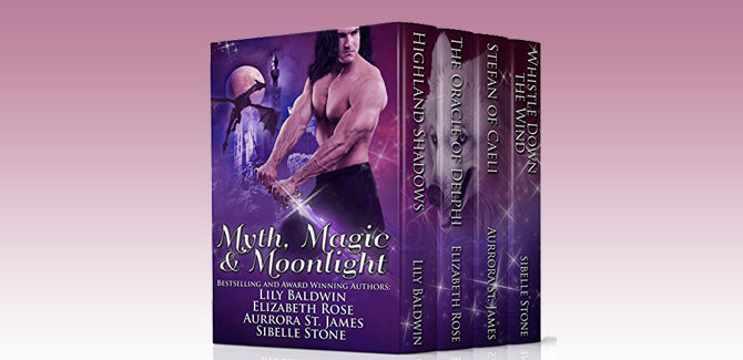 fantasy medieval paranormal romance boxed set Myth, Magic, and Moonlight by Lily Baldwin, Elizabeth Rose, Aurrora St. James & Sibelle Stone