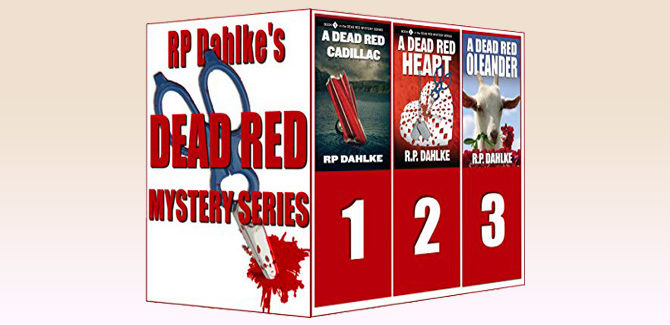 womensleuth cozy mystery ebook 3 Boxed Set-The Dead Red Mystery Series by RP Dahlke